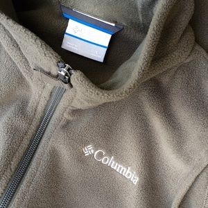 Columbia Fleece Vest Hunter Green Youth Large